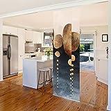 Cortinas deslizables set elisabeth fredriksson abstract golden stones 2 paneles japoneses 250 x 120cm sin montaje