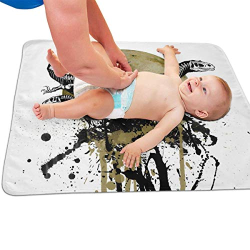 Zcfhike Baby Portable Diaper Changing Pad Three Dinosaurs Urinary Pad Baby Changing Mat 31.5' x25.5''