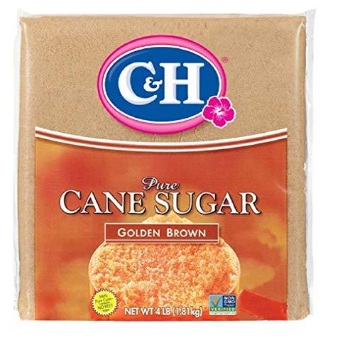 C&H Pure Cane Sugar Golden Brown 4lb (1.81 kg) Bag