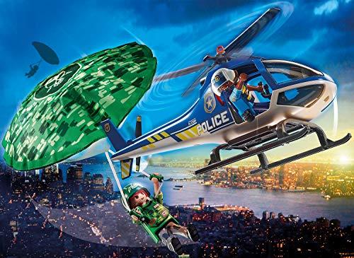 Helicóptero policial persecución paracaidista Playmobil - City Action (70569)