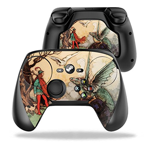 MightySkins Skin Compatible with Valve Steam Controller case wrap Cover Sticker Skins Tale of A Dragon