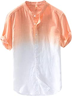 Summer Men's Hanging Dyed Gradient-Cool-Thin-Breathable Collar-Shirt TYEIN