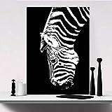 Yulernka Carteles e Impresiones de Animales en Blanco y Negro Pintura en Lienzo Cuadros de Pared de Arte Abstracto de Cebra para Sala de Estar 50x70cm