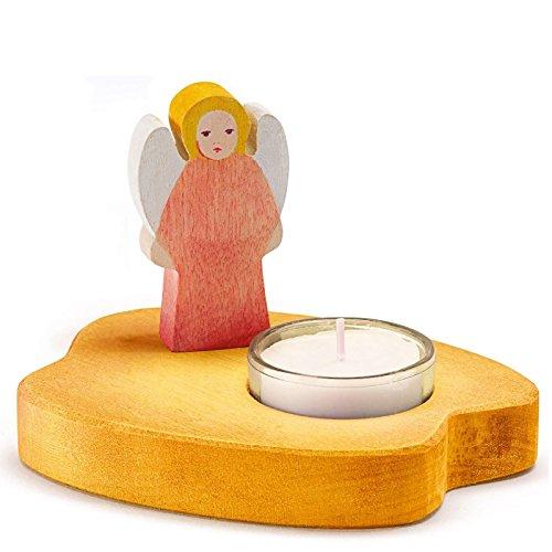 Teelicht mit Engel rot Ostheimer Kinderkram 5530283