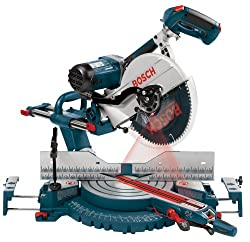 Bosch 5412L 12-Inch Dual Bevel Slide Miter Saw with Laser Tracking - Power Miter Saws