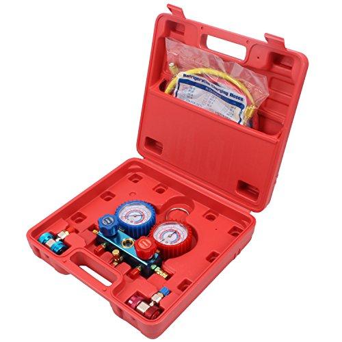 CCLIFE A/C Druckuhr-Armatur Werkzeug für Klimaanlagenprüfung Kfz Klimaanlage Diagnosegerät Prüfgerät
