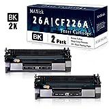 2 Pack Black 26A   CF226A Toner Cartridge Replacement for HP Laserjet Pro M402d M402n M402dn M402dw M402m M402dne HP Laserjet Pro MFP M426dw M426fdn M426fdw M426dw M426m M427dw Printer