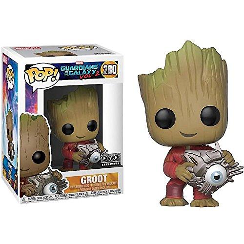 Groot (f.y.e. Exc): Funko Pop! Vinyl Figure & 1 Compatible Graphic Protector Bundle (280 - 24878 - B)