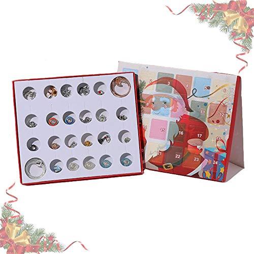 Anyingkai Calendario de Adviento de Navidad,Calendario de Adviento de Maquillaje,Calendario de Adviento Belleza,Countdown Calendar,Calendario de Adviento para Mujer (Oro y Plata)