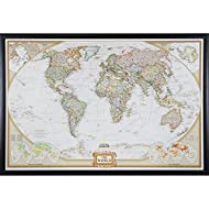 Craig Frames Wayfarer, Executive World Push Pin Travel Map