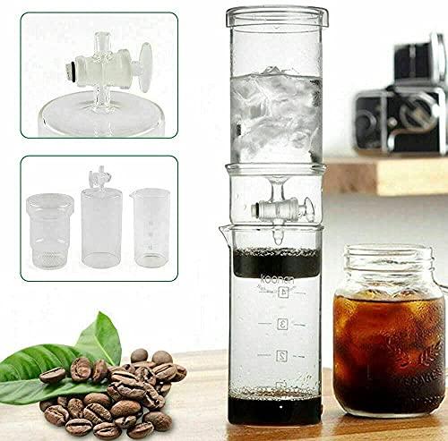 Botella de café portátil con goteo de hielo en frío para café de goteo de hielo taza de viaje en vidrio borosilicato