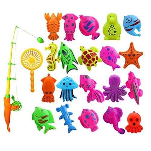 B Baosity 釣り おもちゃ 釣りゲーム ふりプレイ ふり遊び 磁気 お風呂おもちゃ 遊びおもちゃ 全2種類 - 20個