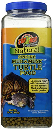 Zoo Med Natural Sinking Mud and Musk Turtle Food, 20 Ounce Container