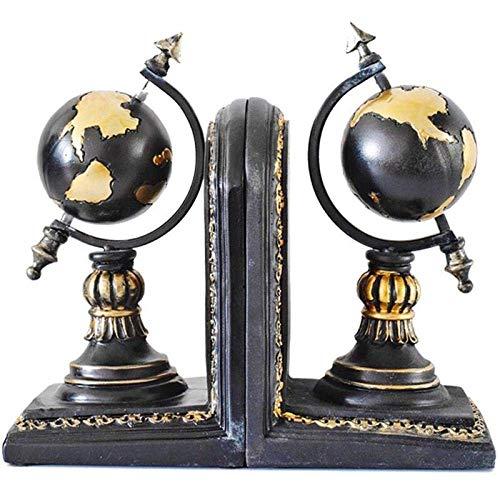 YASEking Adornos Esculturas Estatua Modelo Estadounidense de Estudio Europeo de decoración de Interior Adornos Globo Libro del Estante de Libro Decoración Libro Basándose en