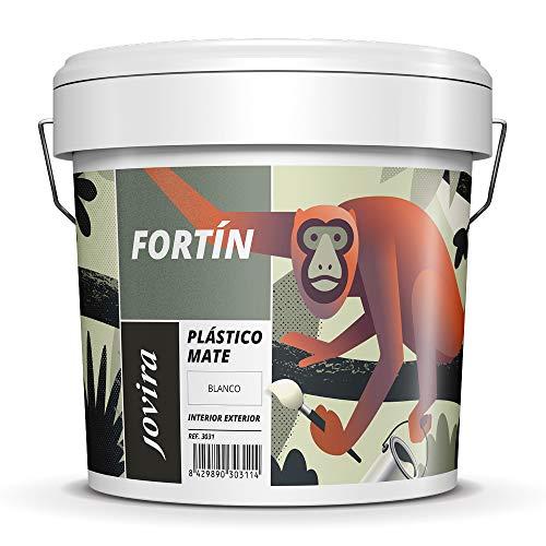 PINTURA MATE EXTERIOR/INTERIOR LAVABLE, Super Cubriente,Blanco Lustroso (25 KG, BLANCO)