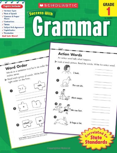 Scholastic Success With Grammar,  Grade 1