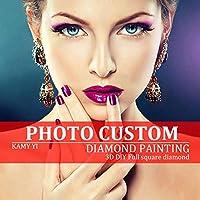 Diyのダイヤモンド塗装!プライベートカスタム写真カスタムダイヤモンド絵画フルドリルダイヤモンドラインストーン刺繍装飾を自分で作る,Round,30x50cm