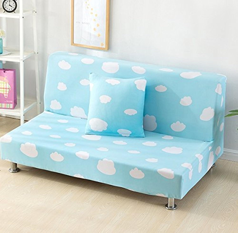 Farmerly All-Inclusive Folding Sofa Bed Cover No Armrest Sofa Cover Slipcover Polyester Elastic Fabric Whole Seasons Cloth Art 160-195cm   08, 160-195cm