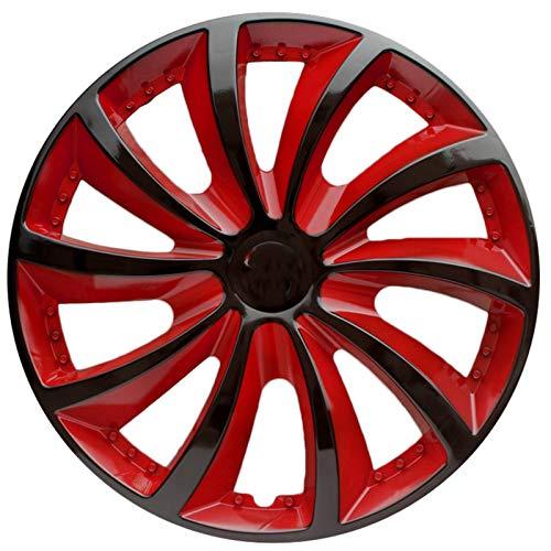 JCCOZ-URG Red Libre Collocation 4pcs Rueda Rueda Compatible con 13/14/15 Pulgadas Cubiertas de Ruedas Piezas de modificación de automóviles Enviar Logo de Coche URG (Size : 13INCH)