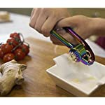 Iridescent Manual Garlic Press Crusher - Handheld Kitchen Tool for Cloves & Ginger. Professional High Quality Modern…