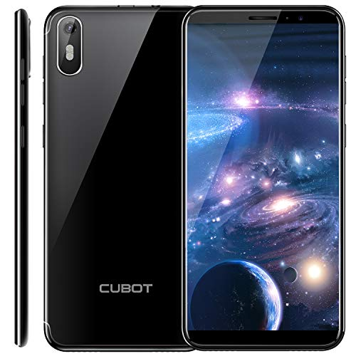 CUBOT J5 Smartphone Android 9.0, Télephone Portable débloqué Écran FHD 5,5 Pouces (18:9) 2800mAh Batterie, 2Go-16Go (Extensible à 32Go) Double Camera 13MP+2MP/ 8MP Identité faciale, Noir
