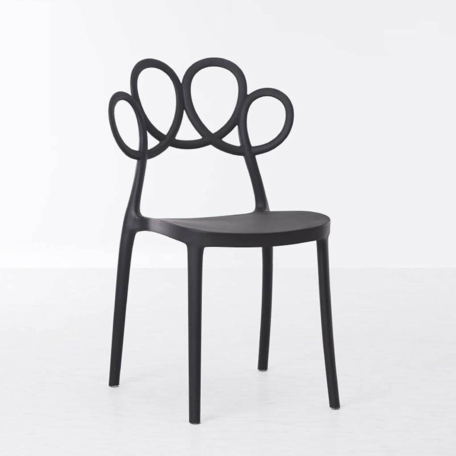 Dining Chair Coffee Shop seat Plastic Chair Office Chair Home seat Living Room Chair Stool (color   Black, Size   40  47  84cm)