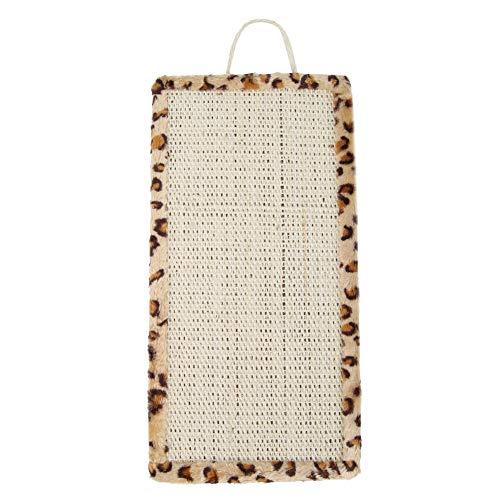 OndersteuntHelp huisdier vis Sisal kat Scratch Mat speelgoed meubels tapijt beschermer Pad Board, Luipaard Print