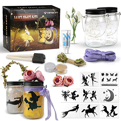 Fairy Craft Kits for Girls - Fun Crafts and DIY Arts Project for Kids - Make Your Own Fairy in A Jar Night Light Kit