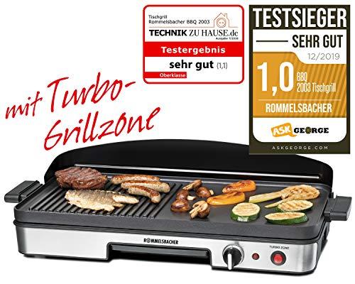 ROMMELSBACHER Tischgrill BBQ 2003 - Turbo-Grillzone, 3-Lagen-Antihaftbeschichtung, Grillfläche 50 x...