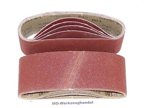 25 Stück Gewebe-Schleifbänder 75 x 533 mm Körnung je 5 x 40/60/80/120/180 für Bandschleifer