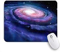 NIESIKKLAマウスパッド 渦巻銀河ピンクがかった青いバラ銀河天の川の魔法のコスモス宇宙のイラスト ゲーミング オフィス最適 高級感 おしゃれ 防水 耐久性が良い 滑り止めゴム底 ゲーミングなど適用 用ノートブックコンピュータマウスマット
