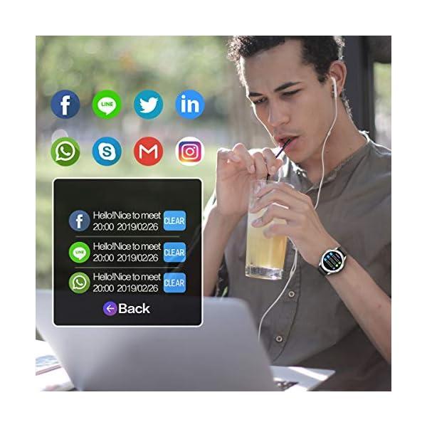 CanMixs Smartwatch, Reloj Inteligente IP67 Pulsera Actividad Hombre y Mujer, CM13 Deportivo Reloj Fitness con Pantalla… 3