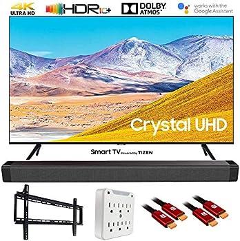 SAMSUNG UN65TU8000 65  4K Ultra HD Smart LED TV  2020 Model  w/Deco Gear Soundbar Bundle