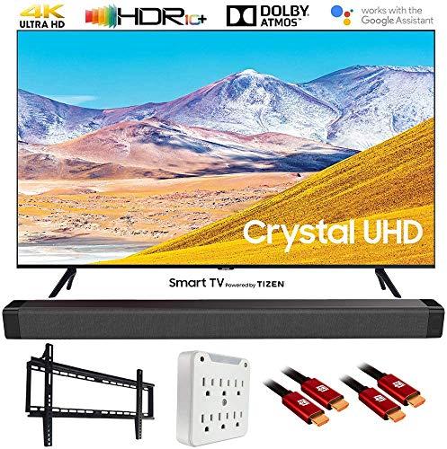 Samsung UN50TU8000 50 pulgadas 4K Ultra HD Smart LED TV (modelo 2020) con paquete de barra de sonido Deco Gear