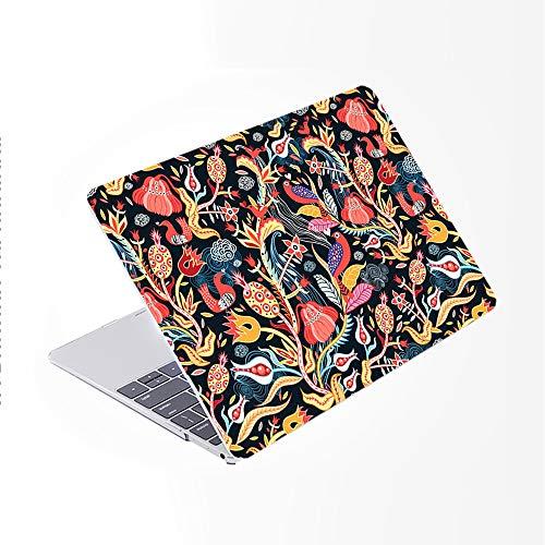 SDH Funda para MacBook Pro de 15 pulgadas 2019 2018 2017 2016 lanzamiento A1990 A1707, carcasa rígida de patrón de plástico y piel de teclado degradado compatible con Mac bookPro 15,Mai Lang 13