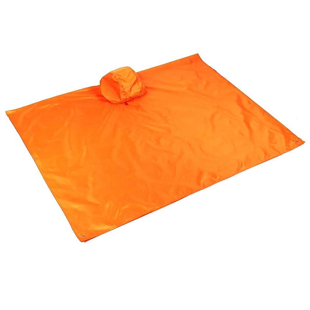 テレマコス海上真空蜂の巣 3in1 防水 多機能式レインコート 防湿マット 日除けタープシェルター アウトドア キャンプ コンパクト 男女共用