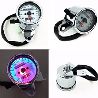 Motorcycle ATV scooter 60MPH and KPH Speedometer Odometer Gauge with LED Backlight Signal Light