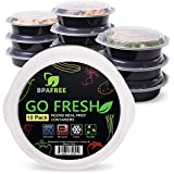 [10-Pack] Round Meal Prep Containers, Reusable Plastic Food Containers...