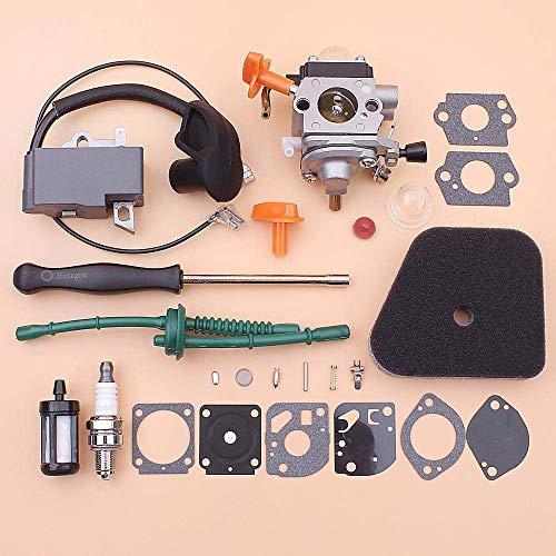Glatt Vergaser Zündspule for Stihl FS87 FS100 HL100 HL95 KM90 KM100 KM130 Luft-Kraftstoff-Filterlinie Schraubenzieher-Reparatur-Kit Trimmer Robust