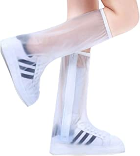 JYWY Boots, waterproof shoes, rain shoes, tall canister boots, non-slip waterproof shoes, boys and girls wear shoe covers, transparent