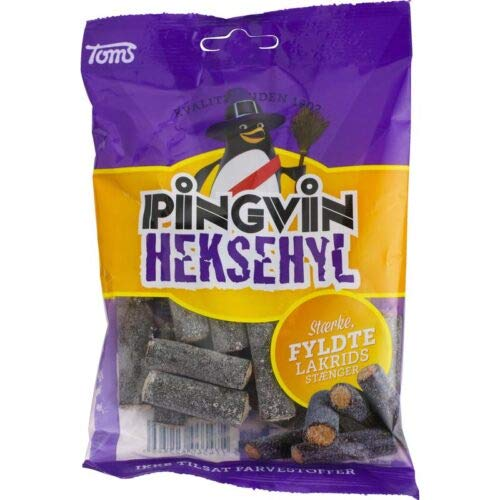 ScandiKitchen, Toms Pingvin Heksehyl, palitos de regaliz salados daneses, 130 g