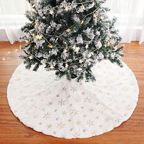 N / A Falda de árbol de Navidad de Piel sintética Alfombra...
