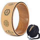 Ruota da yoga in sughero, accessorio naturale e confortevole per dharma pilates e per migliorare la...