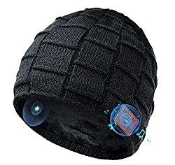 【Le style combine la technologie, cadeaux uniques pour hommes et femmes design】: La conception style de chapeau casque Bluetooth en fait un cadeau électronique de mode unique pour les hommes, femmes, garçons, filles comme anniversaire, Noël, cadeau d...