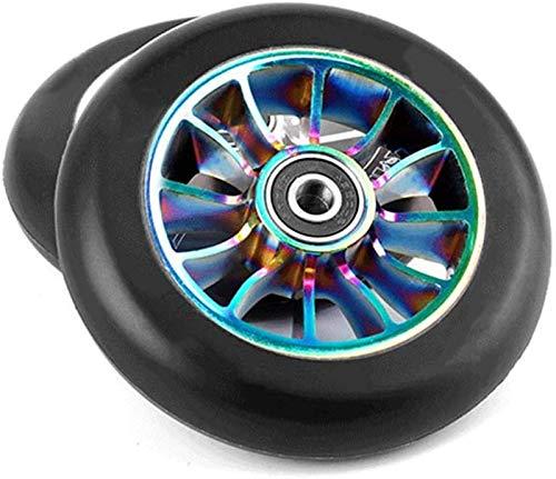 Wheels Ruedas De Reemplazo De Scooter, Ruedas De Reemplazo De Scooter De 110 Mm X24 Mm con Cojinetes ABEC 9, Rueda De Scooter Pro Stunt(Color:D)