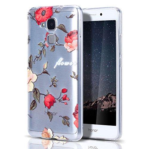 HülleLover Huawei Honor 5C/GT3 Hülle, Superdünner Transparenter Tasche Schutzhülle, Honor 5C/7 Lite/Huawei GT3 5.2