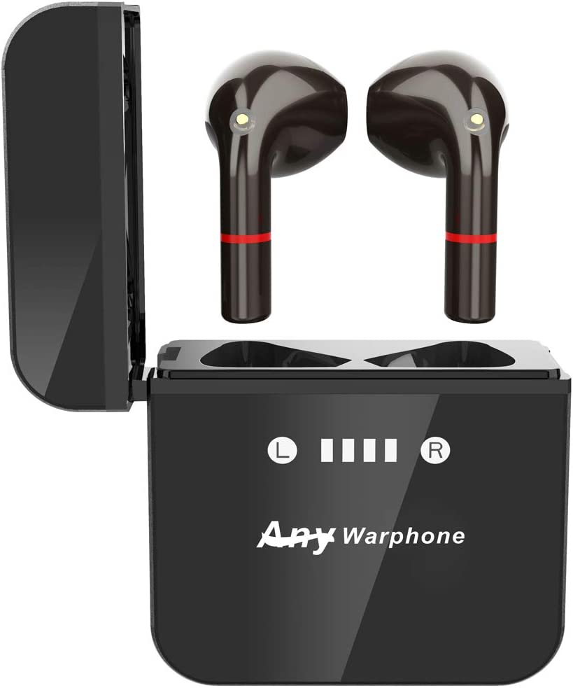 Wireless Earbuds with Metal Case,Any warphone Bluetooth 5.0 in-Ear Detection Headphones, AptX Deep Bass CVC 8.0 Noise Reduction, Touch Control with Mic USB-C Quick Charge 30h Playtime