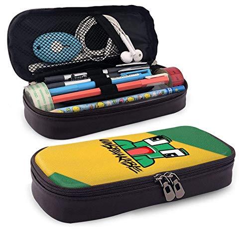 Estuche de piel sintética para lápices de maquillaje, caja de maquillaje, cajas de estudiantes, estuche de oficina para lápices, bolsa de maquillaje, bolsa de cosméticos con cremallera