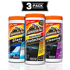 Convenient, disposable wipes protect your car's rich look Original protectant wipes renew and revitalize vinyl, rubber and plastic Cleaning wipes easily remove ground-in dirt, dust and grime Glass wipes easily removes filmy residue, road grime, bugs,...