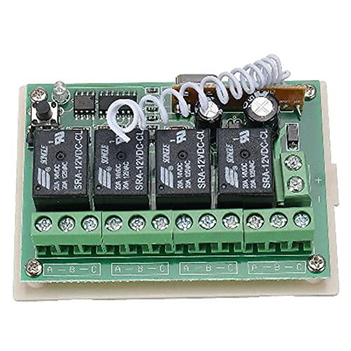 Interruptor De Control Remoto Inalámbrico De 12V 4CH Canal DE Canal 4CH Canal con 2 Transmisores